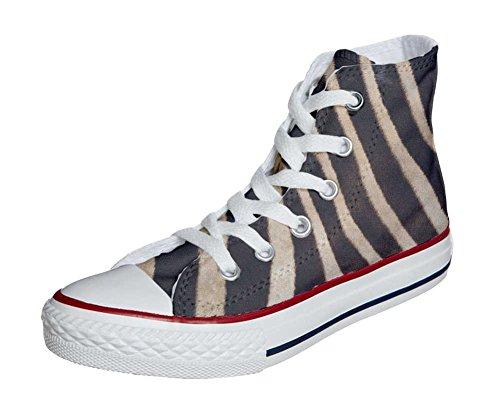 Converse Customized Chaussures Personnalisé et imprimés UNISEX (produit artisanal) zèbre - size EU35