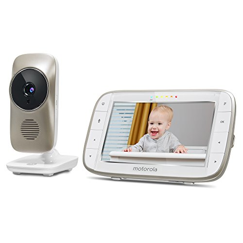 motorola mbp845connect video baby monitor with wi fi 5 inch color screen digital zoom two way. Black Bedroom Furniture Sets. Home Design Ideas