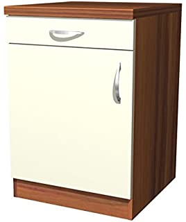 Küchen Unterschrank Sienna 100 cm Vanille Zwetschge Dekor: Amazon ...