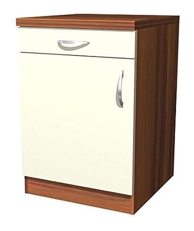Küchen Unterschrank Sienna 60 cm Vanille Zwetschge Dekor: Amazon.de ...