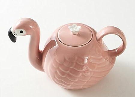 Infiniment Grand Centre de home Decor 1/pcs exclusif Rose Flamant rose en c/éramique Pot de th/é et de th/é Th/éi/ère Tropical Flamingo Cup