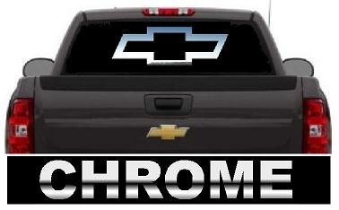 Amazoncom Chevy Bowtie Year Outdoor Decal Chrome X - Chevy bowtie rear window decal