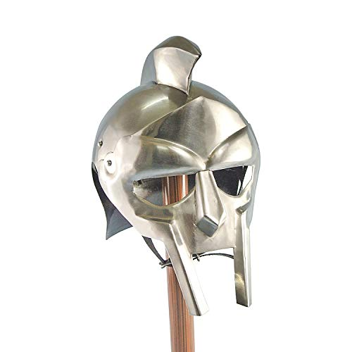 Mythrojan Gladiator Armor Steel Helmet (Without Liner) 20g - Polished Finish -