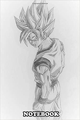 Notebook Pencil Drawing Of Goku Super Saiyan Journal For