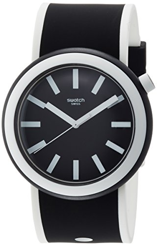 Swatch New POP Poplooking Black Dial Silicone Strap Unisex Watch PNB100