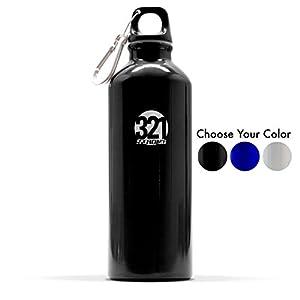 500 mL ( 16.9 fluid ounce ) Aluminum Sports Water Bottle , Black