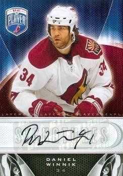 2010 Upper Deck Player - Daniel Winnik Autographed Hockey Card (Phoenix Coyotes) 2010 Upper Deck Be A Players No.S-DW
