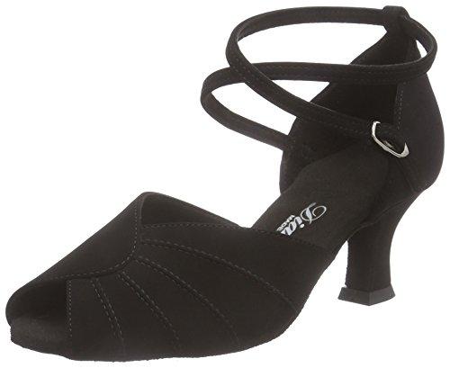 Diamant Damen Latein Tanzschuhe 027-064-040, Women's Ballroom Dance Shoes Schwarz (Schwarz)