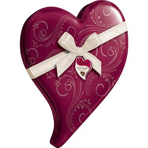 DOVE VALENTINES DAY CANDY CHOCOLATE TIN HEART BOX ASSORTED CHOCOLATES 6.5 OZ ()