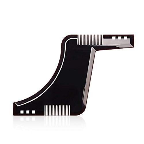 Beard Style Tool Shaping Comb ULG Template Shaper Edging Beards Facial Hair Trimmer for Jaw Line Cheek Neck and Goatee Styling for Sideburns and Hairline Razor Trimming Line Grooming Kit Guide for Men