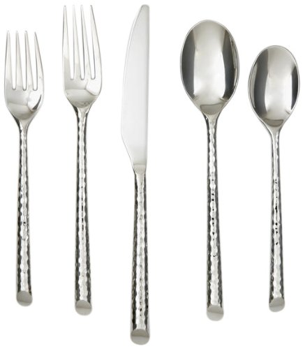 (Cambridge Silversmiths Granger Mirror 20-Piece Flatware Silverware Set, 18/10 Stainless Steel, Service for 4, Includes Forks/Spoons/Knives)