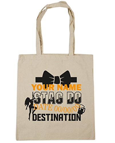 Bag Natural 42cm Do Personalised Shopping 10 litres Gym Tote Stag Beach HippoWarehouse x38cm Event Ow8Zzpq