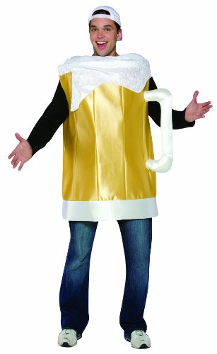 Rasta Imposta Beer Mug Costume , Gold, One Size ()