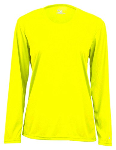 Badger Ladies B-Dry Core Long-Sleeve Tee 4164 -Safety Yello S