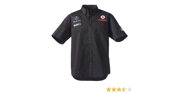 McLaren Vodafone Mercedes Race Camiseta, gestión Camisa para Hombre, Negro, en 5 tamaños Diferentes