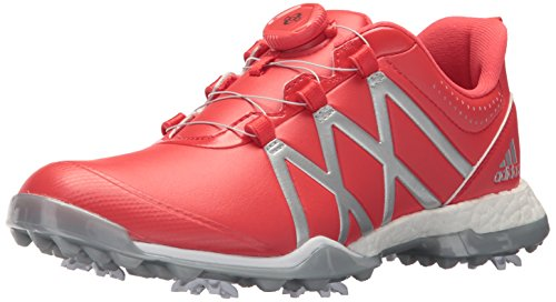 - adidas Women's Adipower Boost BOA Golf Shoe, Real Coral/Silver Metallic, 7 M US