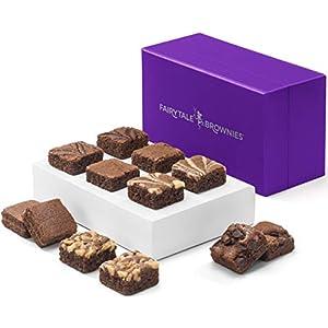 Fairytale Brownies Magic Morsel Dozen Gourmet Chocolate Food Gift Basket – 1.5 Inch x 1.5 Inch Bite-Size Brownies – 12…