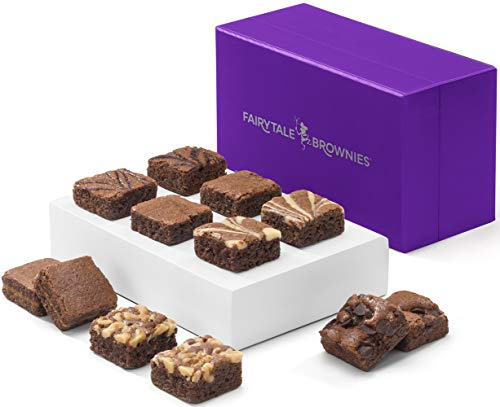 (Fairytale Brownies Magic Morsel Dozen Gourmet Chocolate Food Gift Basket - 1.5 Inch x 1.5 Inch Bite-Size Brownies - 12 Pieces - Item HF412 )