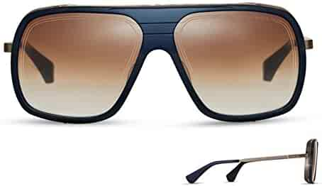 1573899f64f7b Sunglasses Dita ENDURANCE 79 DTS 104 03 Navy Antique Yellow Gold w  Dark  Brown t