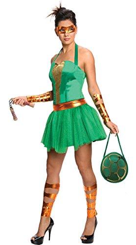 Female Costume Ninja Ideas Turtle (MICHELANGELO ADULT FEMALE SZ)