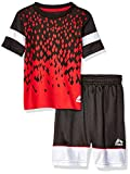 RBX Baby Boys 2 Piece Performance Top and Short Set, Black/Red, 18M