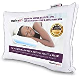 Luxurious Water Pillow - Queen Size with Double Piped Edge - Fully Adjustable Orthopedic Support Waterbase Pillow Hotel Colle
