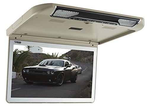 DS18 FDHQ13U 13.3″ Roof Mount LED Monitor 1920 x 1080 Pixels DVD HDMI AV FM IR & Built-in Multimedia – Tan