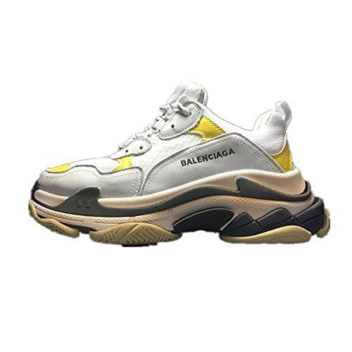 Balenciaga Fashion Shoes Mens & Womens Vintage Triple S Trainers Sneakers Yellow