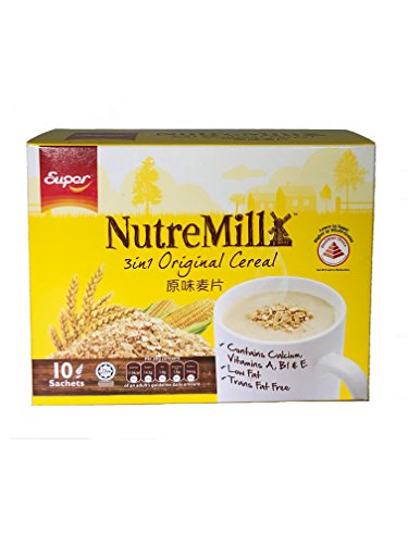 Super NutreMill Original Flavor Cereal (2 Boxes - 10 Sachets each Box) by Super