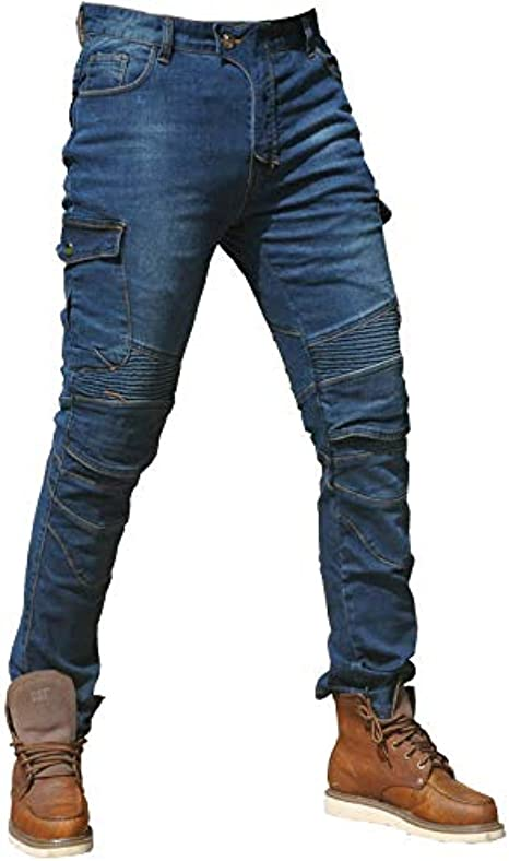 CBBI-WCCI Hombre Motocicleta Pantalones Moto Jeans con Protección Motorcycle Biker Pants