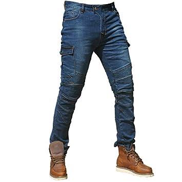 XXL- Hombre Motocicleta Pantalones Moto Jeans Con Motorcycle Biker Pants Azul Waist 38.5
