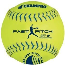 (Champro Synthetic USSSA Fast Pitch Ball, Optic Yellow, 12-Inch (Pack of)