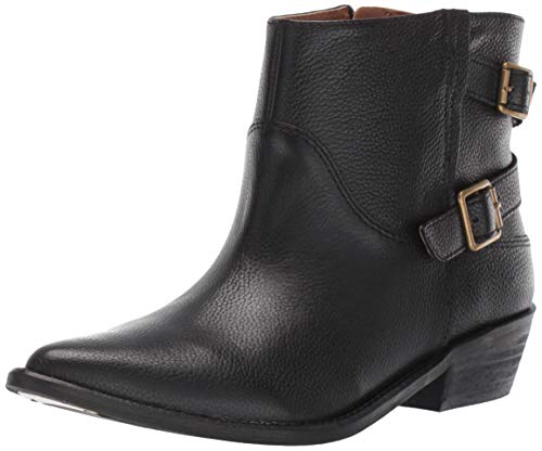 Lucky Brand Women's Caelyn Motorcycle Boot, Black, 7.5 M US