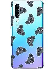 Oihxse Compatible con Huawei Mate 8 Funda Cristal Silicona TPU Suave Ultra-Delgado Protector Estuche Creativa Patrón Protector Anti-Choque Carcasa Cover(Pereza A9)