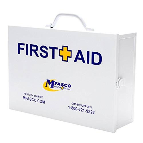 Restaurant First Aid Kit 2 Shelf Metal Cabinet OSHA Class A by MFASCO
