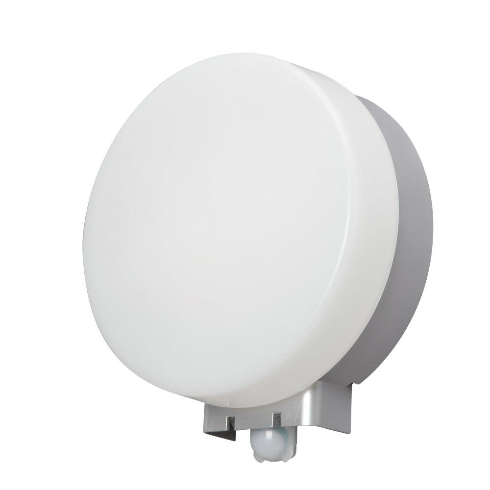 アイリスオーヤマ LEDポーチ灯 人感センサー付 丸型 電球色 500lm IRBR5L-CIPLS-MSBS B00UT7KDME
