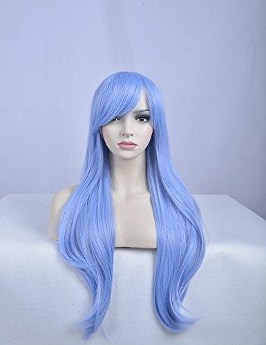 light blue and dark blue wig - 8