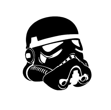 Star wars stormtrooper head helmet decal vinyl decal sticker 5 5 inches black