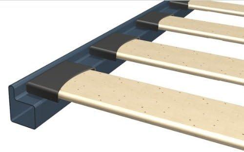 Somier ortopédico de láminas, equipado con patas, apto para colchones de una plaza y media. Estructura de soporte realizada completamente de hierro. ...
