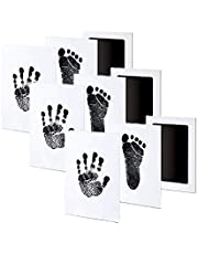 3 Pack Premium No-Mess Ink Baby Footprint & Handprint Ink Pad Safe and Non-Toxic Ink Perfect New Baby (Black)