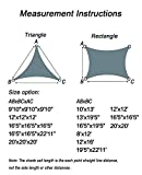 HENG FENG 12'x16' Sand Rectangle Sun Shade Sail