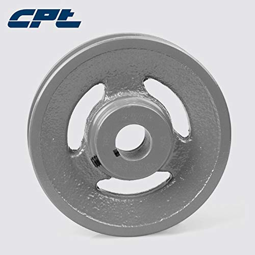 1//2 4L Cast Iron 1 Groove Bore Dia Bore Diameter: 1-2 inch 1.55 OD for A 5//8 3L Belts - Fevas CPT AK15 V Belt Pulley