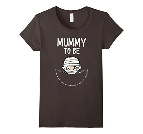 Mummy Costume For Pregnant (Womens Mummy To Be: Cute Women's Halloween Costume T-Shirt XL Asphalt)