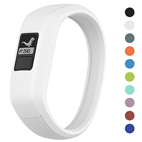 (Meifox Garmin vivofit JR Bands for Kids, Solf Silicone Replacement Band with Garmin Vivofit JR/Vivofit JR 2 / Vivofit 3 (White, Small))