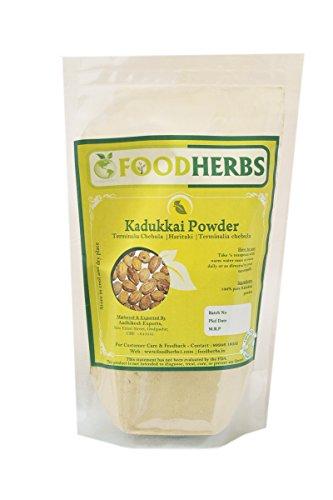 Foodherbs Haritaki/Kadukkai/Terminalia Chebula Powder (De-seeded) (200 GMS) for Natural Internal Cleansing, no Added preservatives