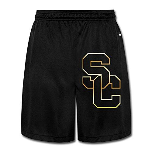 Men's Usc Trojans Gold Style Logo Sweatpants Shorts Black -