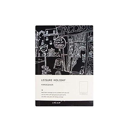 Estilo vintage Papel Cuaderno Creativo Negro Página interior ...