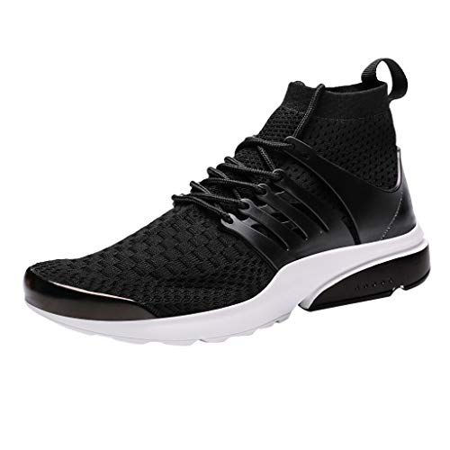 Price comparison product image Men's Lace-up Sneakers Breathable Running Shoes Wild Comfortable Casual Shoes (Balck