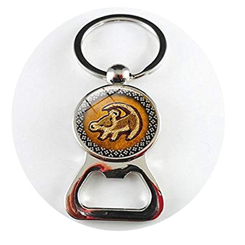 (Lion Head Pendant Lion King Simba Jewelry Round Glass Picture Fashion Vintage Bottle openers Literary Jewelry)