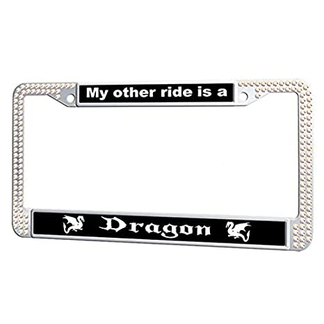 Amazon.com: GumiHolders My Other Ride is A Dragon License Plate ...